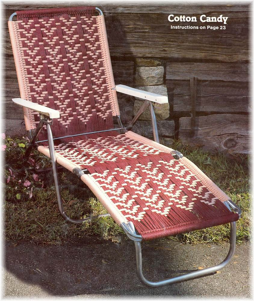 macrame lawn chair patterns macrame cording lawn chairs 14 southwest designs pattern 2072