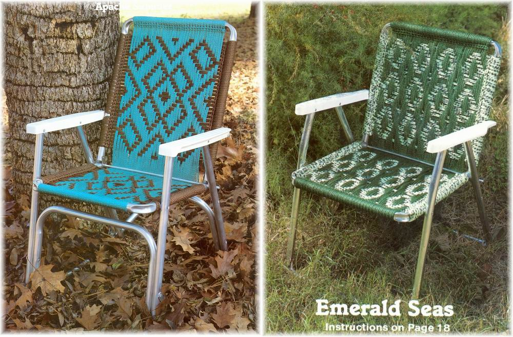 macrame lawn chair patterns vintage macrame cording lawn chairs 14 southwest designs 2385