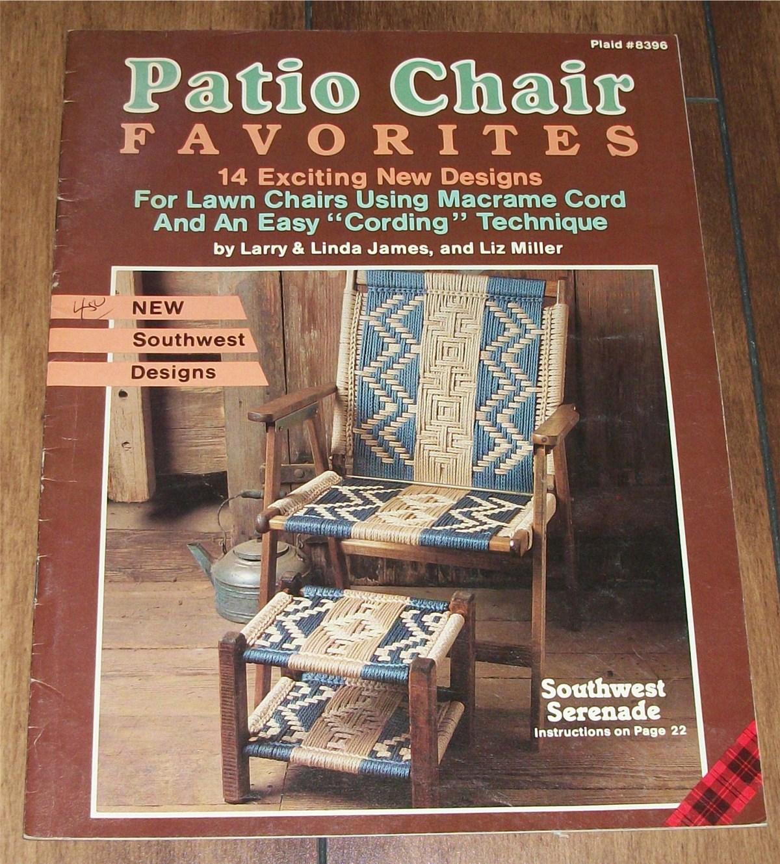 Vintage Macrame Cording Lawn Chairs 14 Southwest Designs