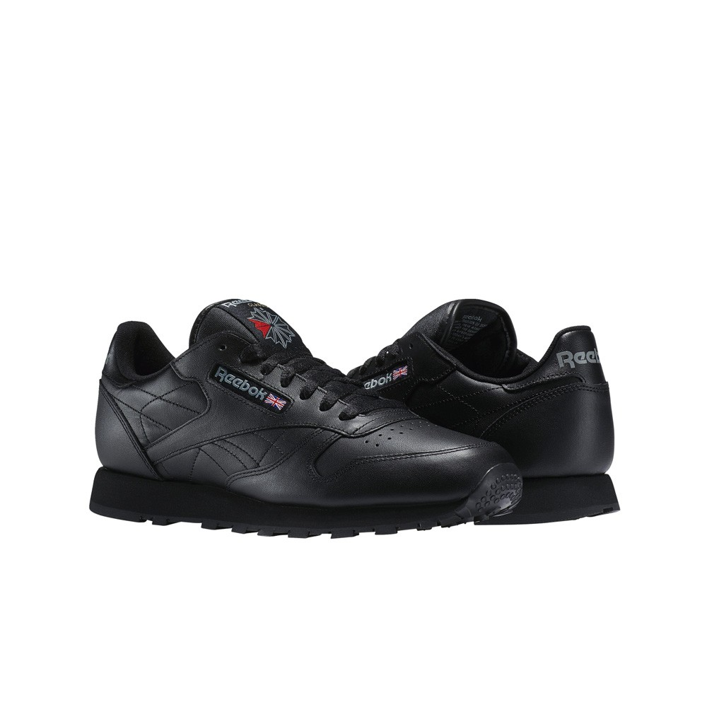 a7293f96f459 Details about Reebok Classic Leather (Black) Men s Shoes 116