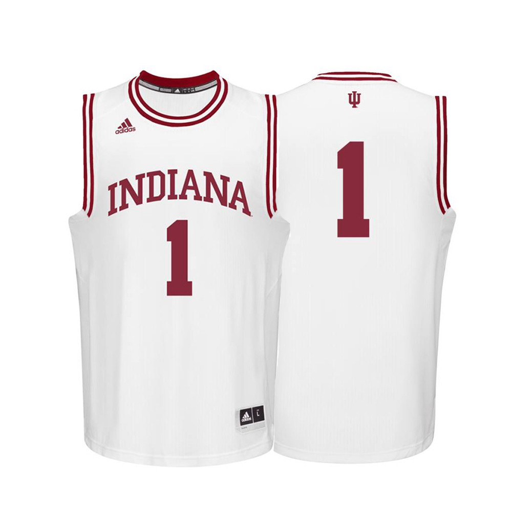 quality design a501e 999a1 Details about Indiana Hoosiers NCAA Adidas #1 White Replica Basketball  Jersey (S)