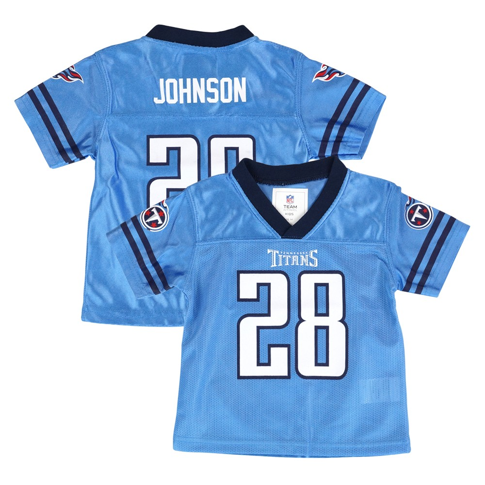 26678115d Chris Johnson Tennessee Titans NFL Team Home Light Blue Jersey Newborn  Infant SZ