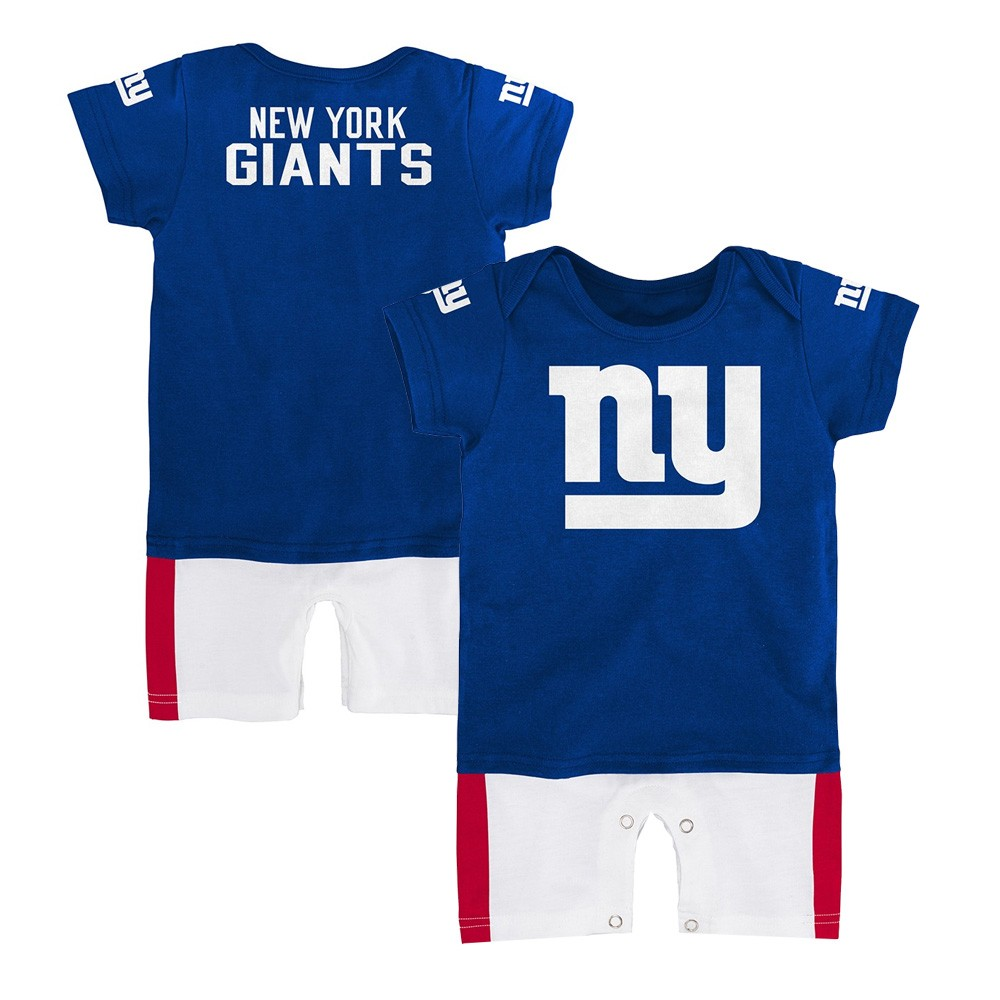 New York Giants NFL Outerstuff Infant Blue Fan Jersey Romper  cf970a1ae