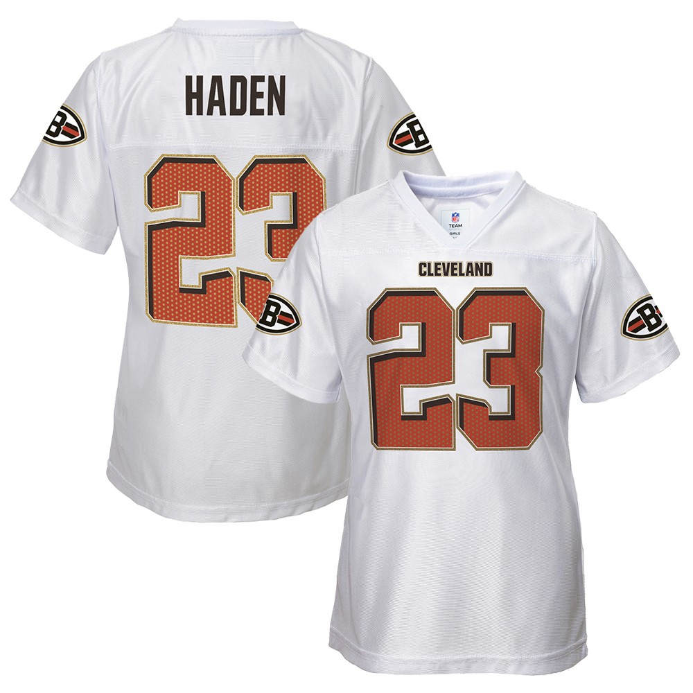 Details About Joe Haden Nfl Cleveland Browns Replica White Jersey Infant Toddler Girls 12m 4t