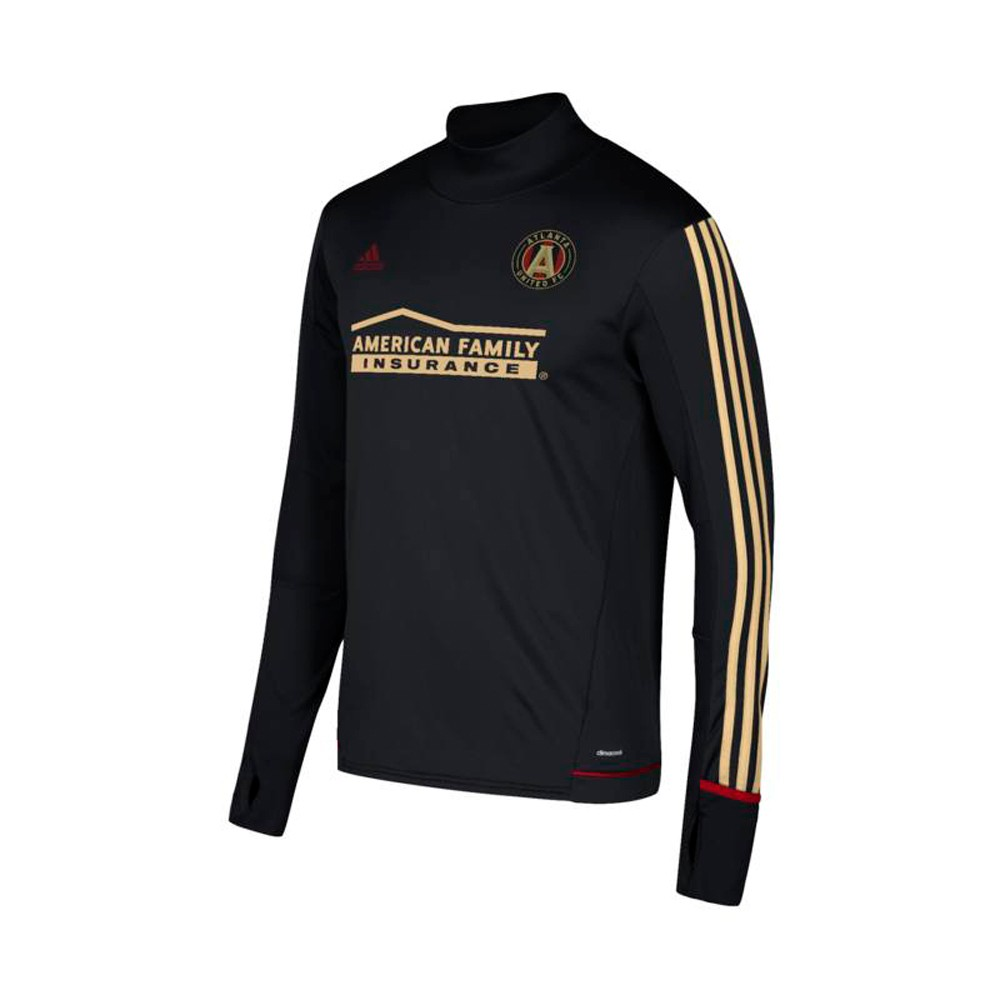 premium selection 45dd0 d3f05 Details about Atlanta United FC MLS Adidas Men's Black Climacool Long  Sleeve Training Jersey