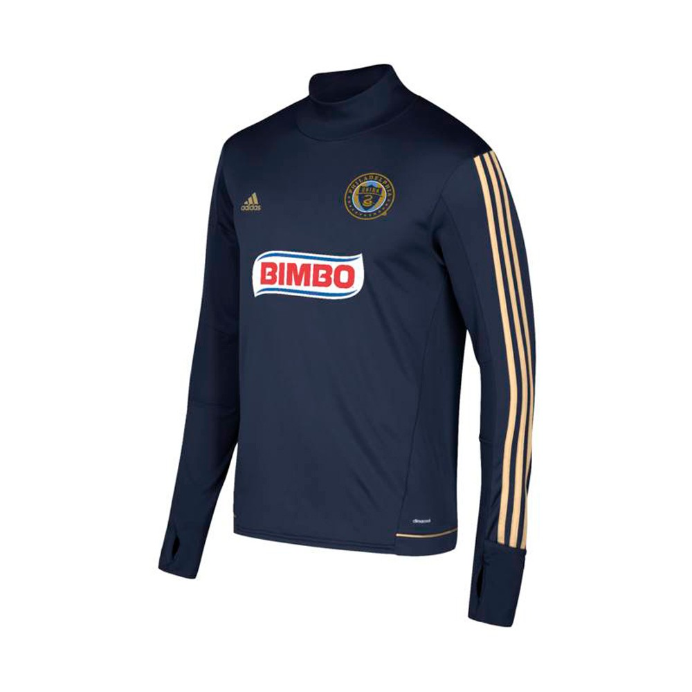 quality design 91998 955f9 Details about Philadelphia Union MLS Adidas Navy Climacool Long Sleeve  Training Jersey