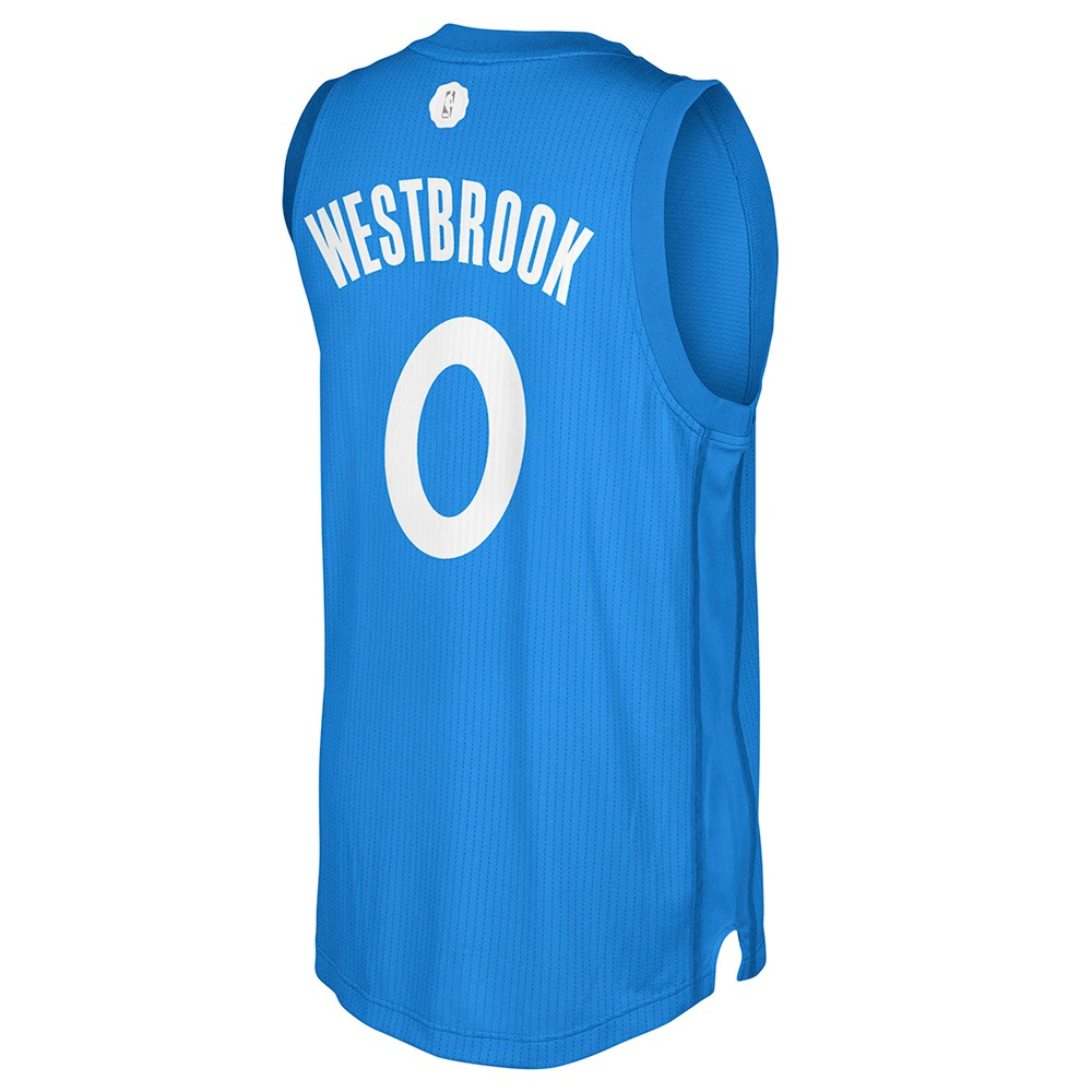 Russell Westbrook OKC Thunder NBA Adidas 2016 Christmas Day Swingman ...