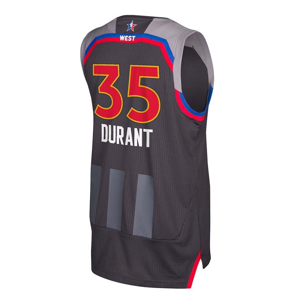 bcadcf62b Kevin Durant Golden State Warriors NBA Black 2017 All Star Swingman Jersey