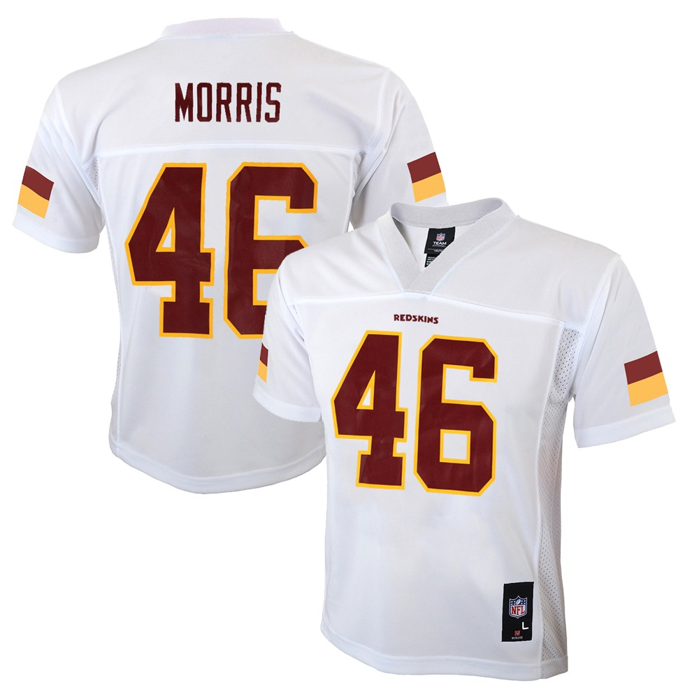 813231b14d981 Alfred Morris NFL Washington Redskins Mid Tier White Away Jersey Boys (4-7)