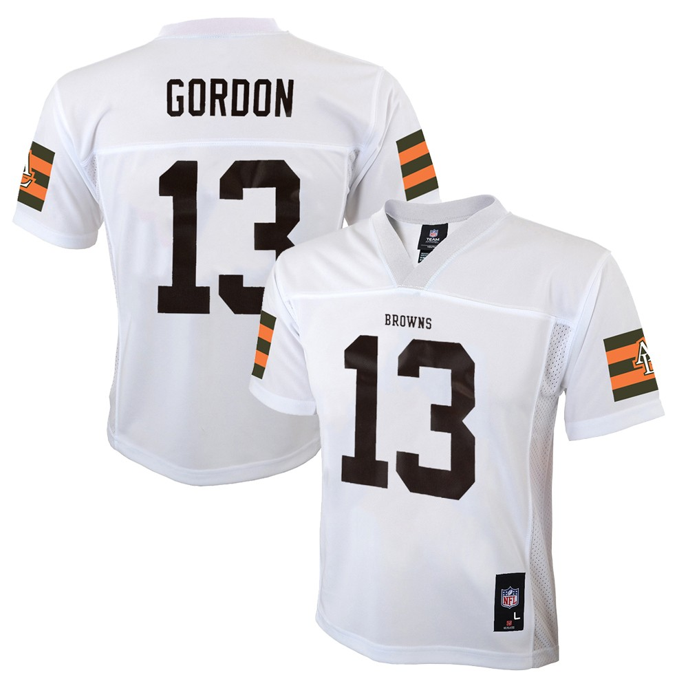 new styles 16364 2dc55 Details about Josh Gordon NFL Cleveland Browns Mid Tier White Away Jersey  Boys (4-7)
