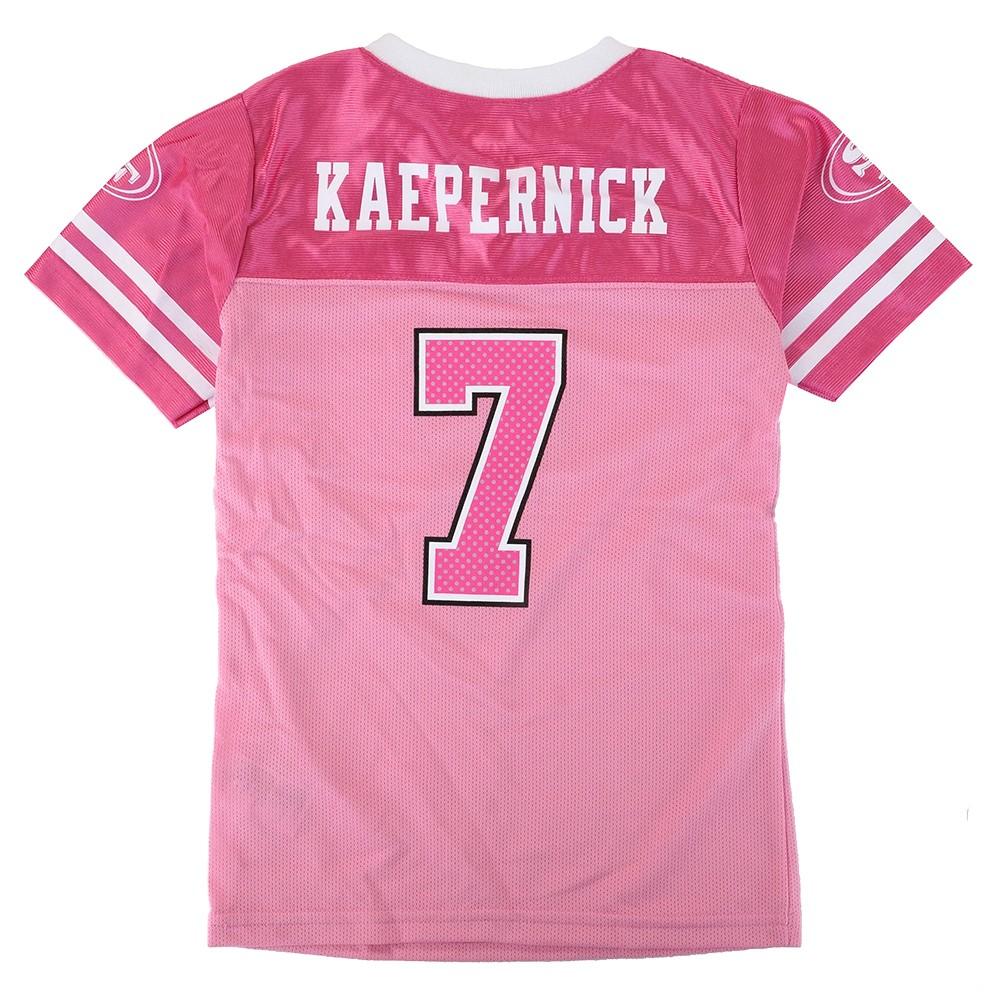 2d167c5074e Colin Kaepernick NFL San Francisco 49ers Fashion Pink Jersey Youth Girls  (4-16)