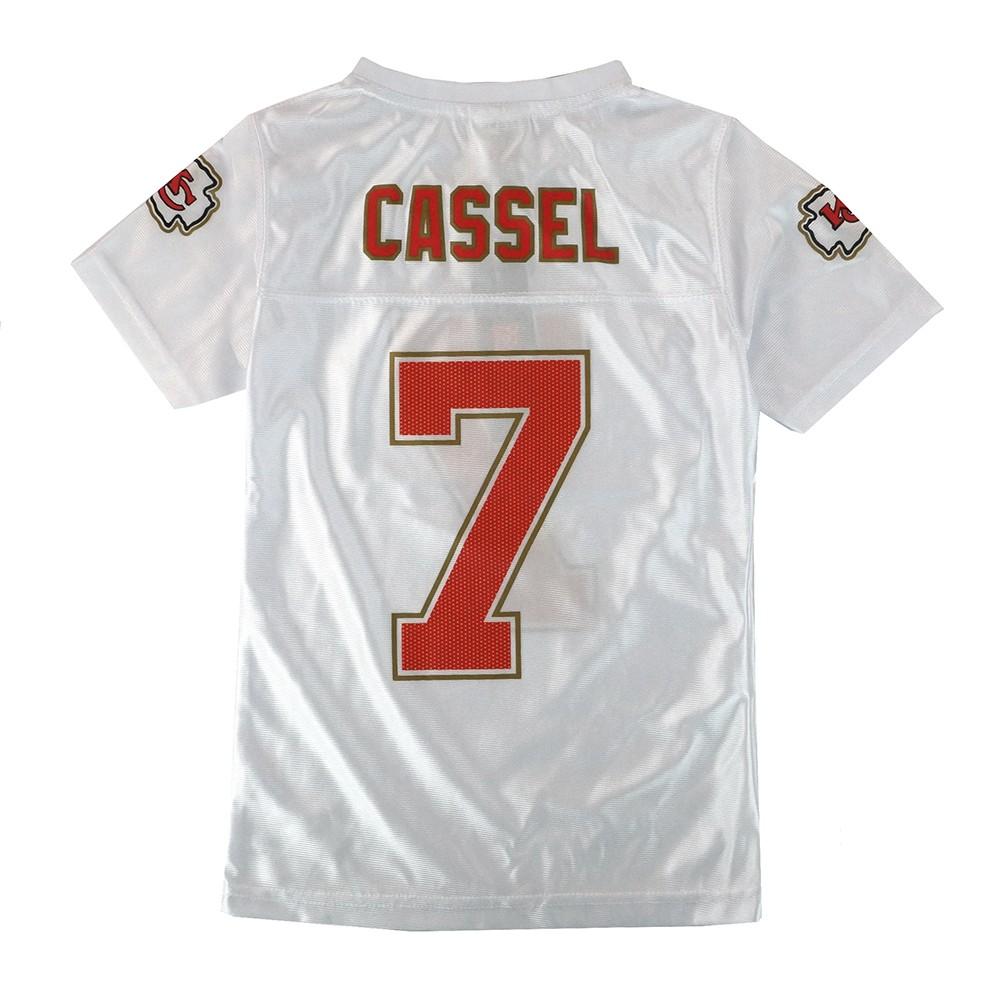 Matt Cassel NFL Kansas City Chiefs White Away Replica Jersey Girls ...