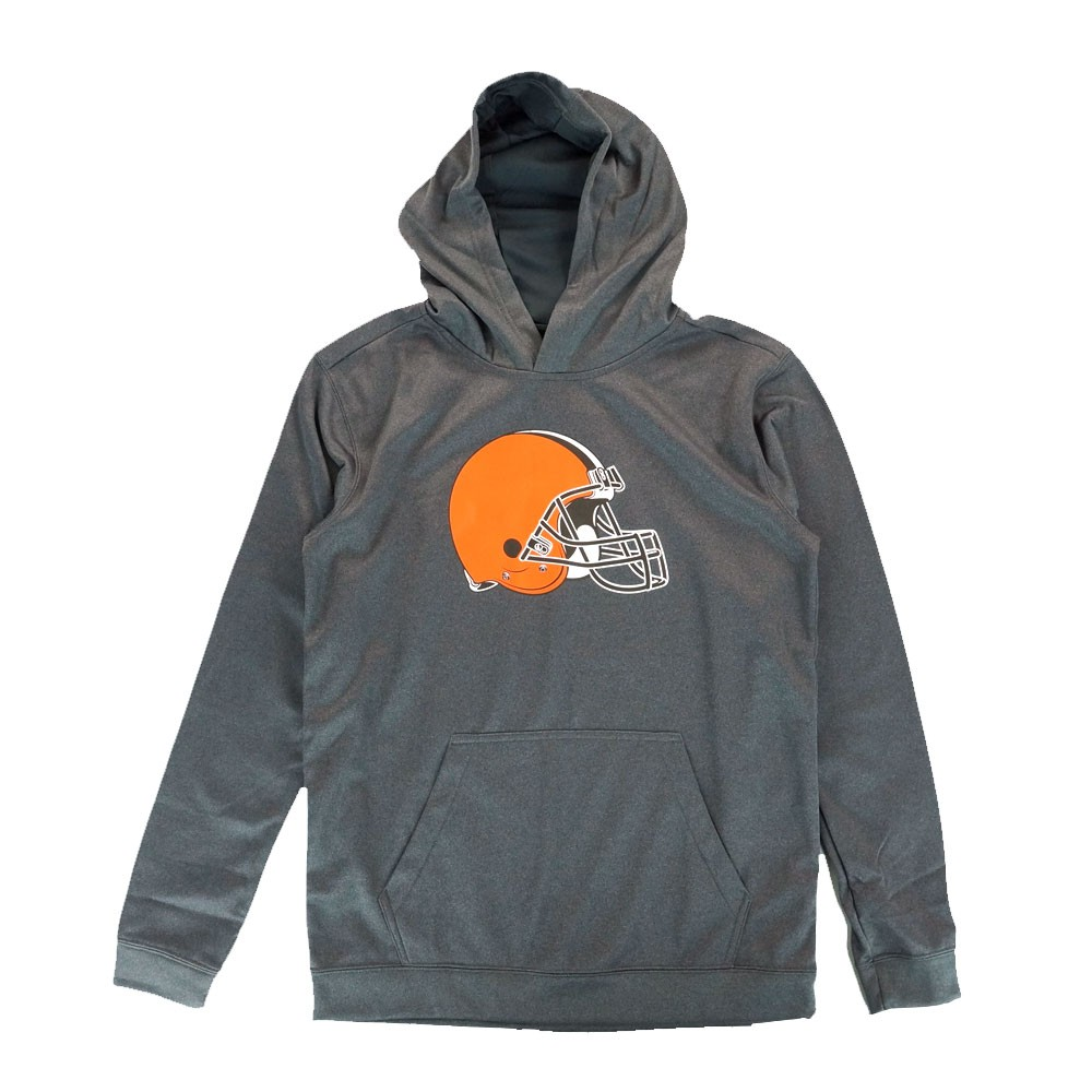 Discount Cleveland Browns NFL Primary Team Logo Grey Performance Pullover