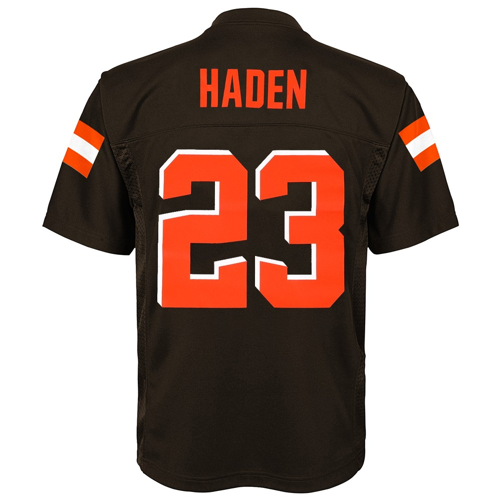 f08d75791 Joe Haden NFL Cleveland Browns Mid Tier Home Brown Jersey Youth (S ...