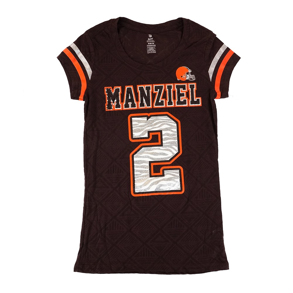 7bf3361b Details about Johnny Manziel NFL Cleveland Browns Player Jersey T-Shirt  Youth Girls (XS-XL)