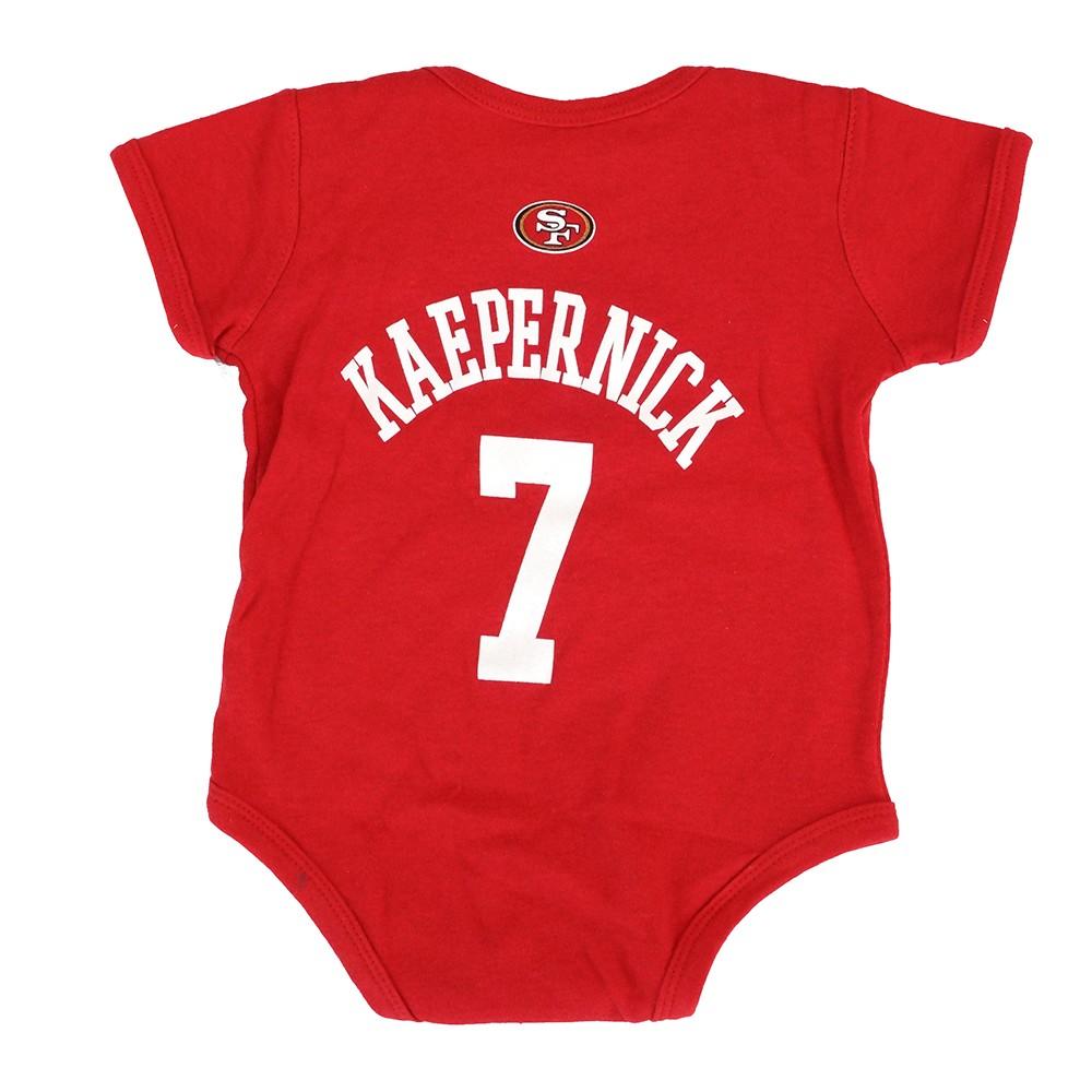 Colin Kaepernick NFL San Francisco 49ers Newborn Infant Creeper Red Jersey  3-9M 6805fa54b16c2