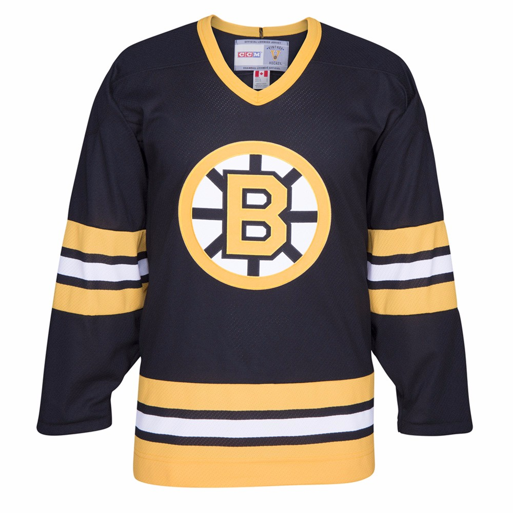 the best attitude c83d1 ec309 Details about Boston Bruins NHL CCM Men's Black Alumni Throwback Premier  Home Jersey