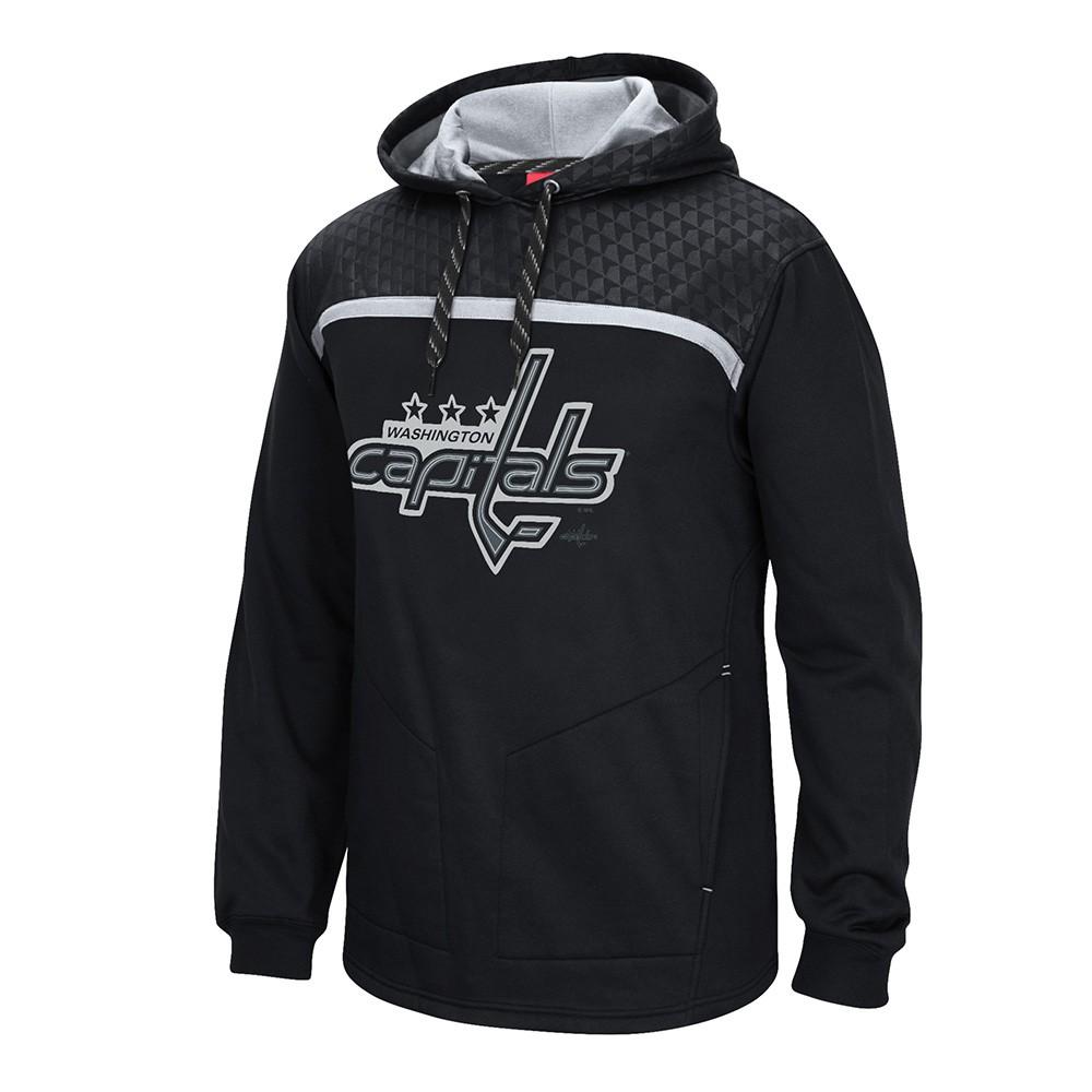 c21f26d6414 Washington Capitals Reebok Cross Check Primary Logo Black Pullover Hoodie  Men's