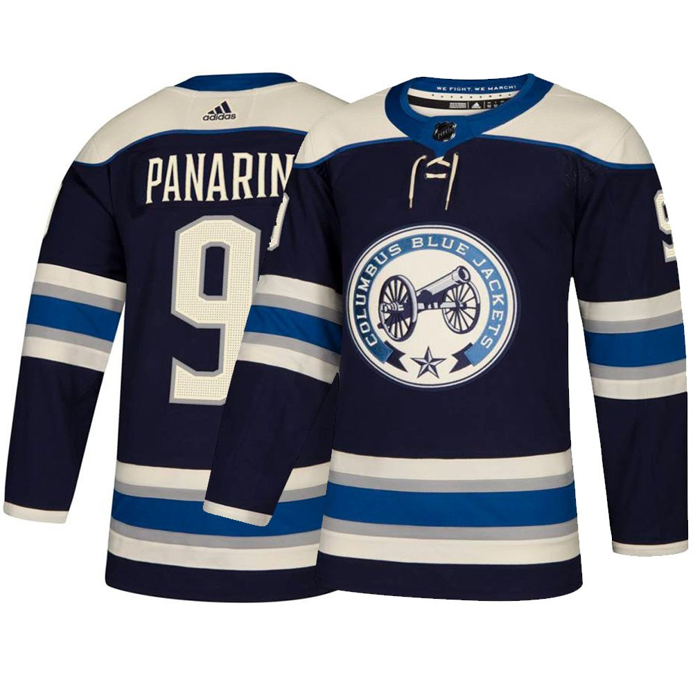 size 40 02c65 3dbc8 Details about Artemi Panarin Columbus Blue Jackets NHL Adidas Navy  Authentic On-Ice Pro Jersey