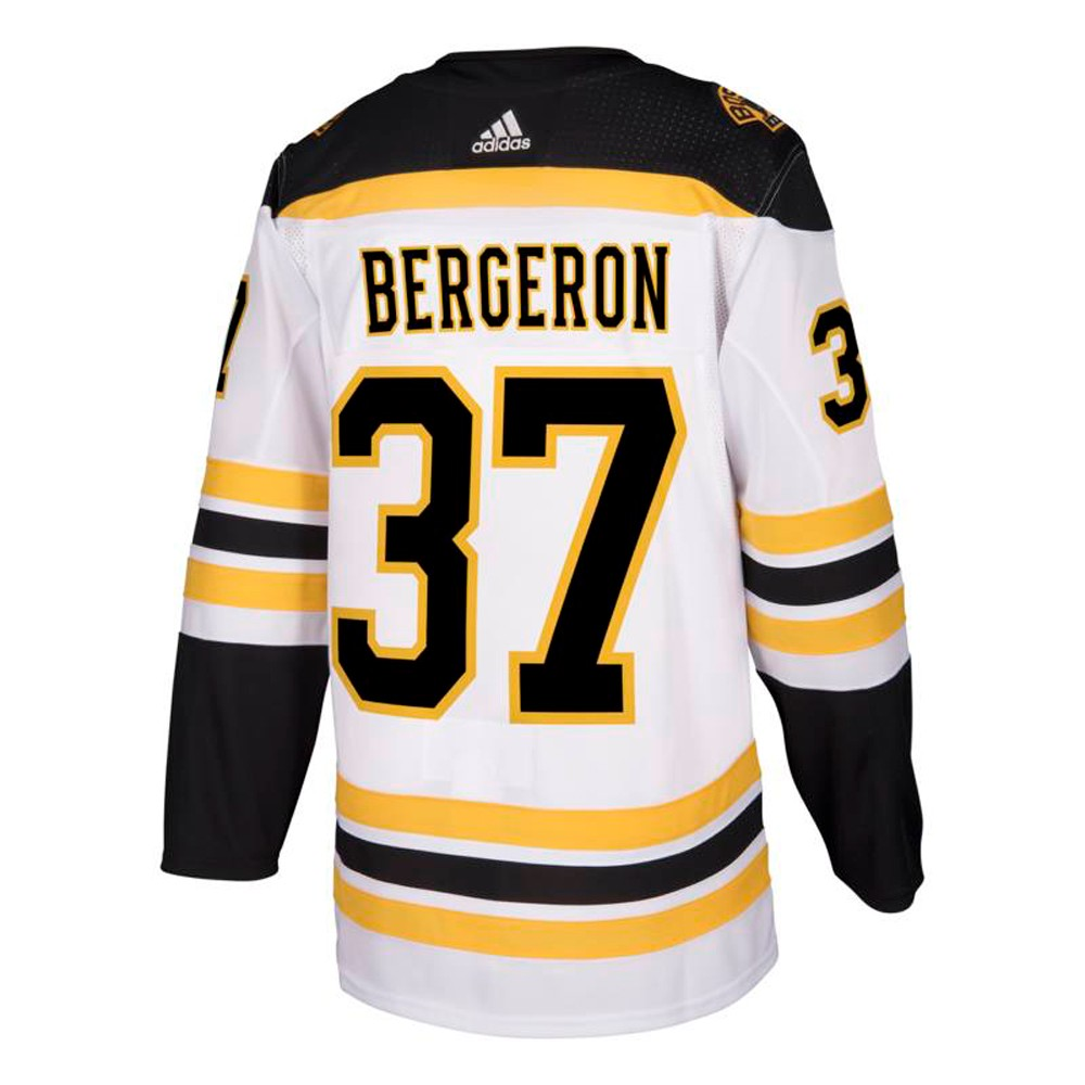 best website 58632 fc2f0 Details about Patrice Bergeron Boston Bruins NHL Adidas White Authentic  On-Ice Pro Jersey