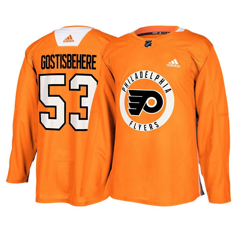 Reebok Shayne Gostisbehere Philadelphia Flyers Youth Orange Name and Number Player T-Shirt