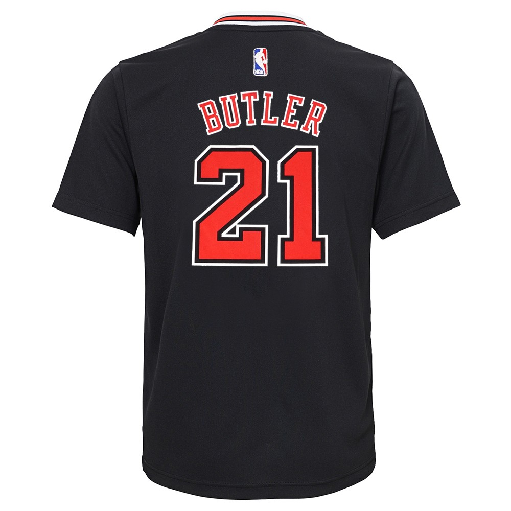 buy popular 6c972 7b361 Details about Jimmy Butler NBA Chicago Bulls Alternate Black Player Replica  Jersey Youth S-XL