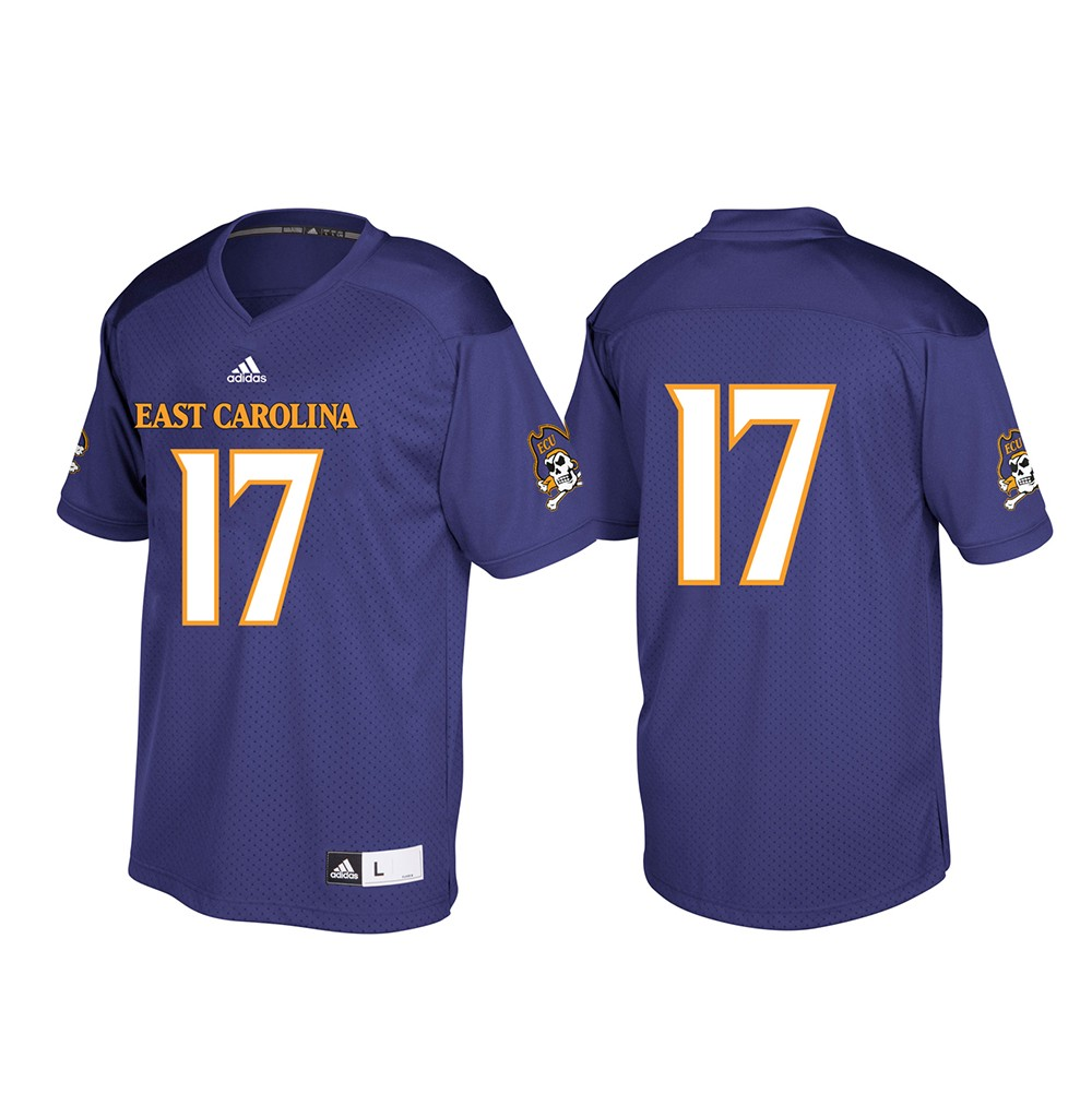 new arrival 3dfe2 8d511 Details about East Carolina Pirates NCAA Adidas Purple #17 Official  Football Replica Jersey