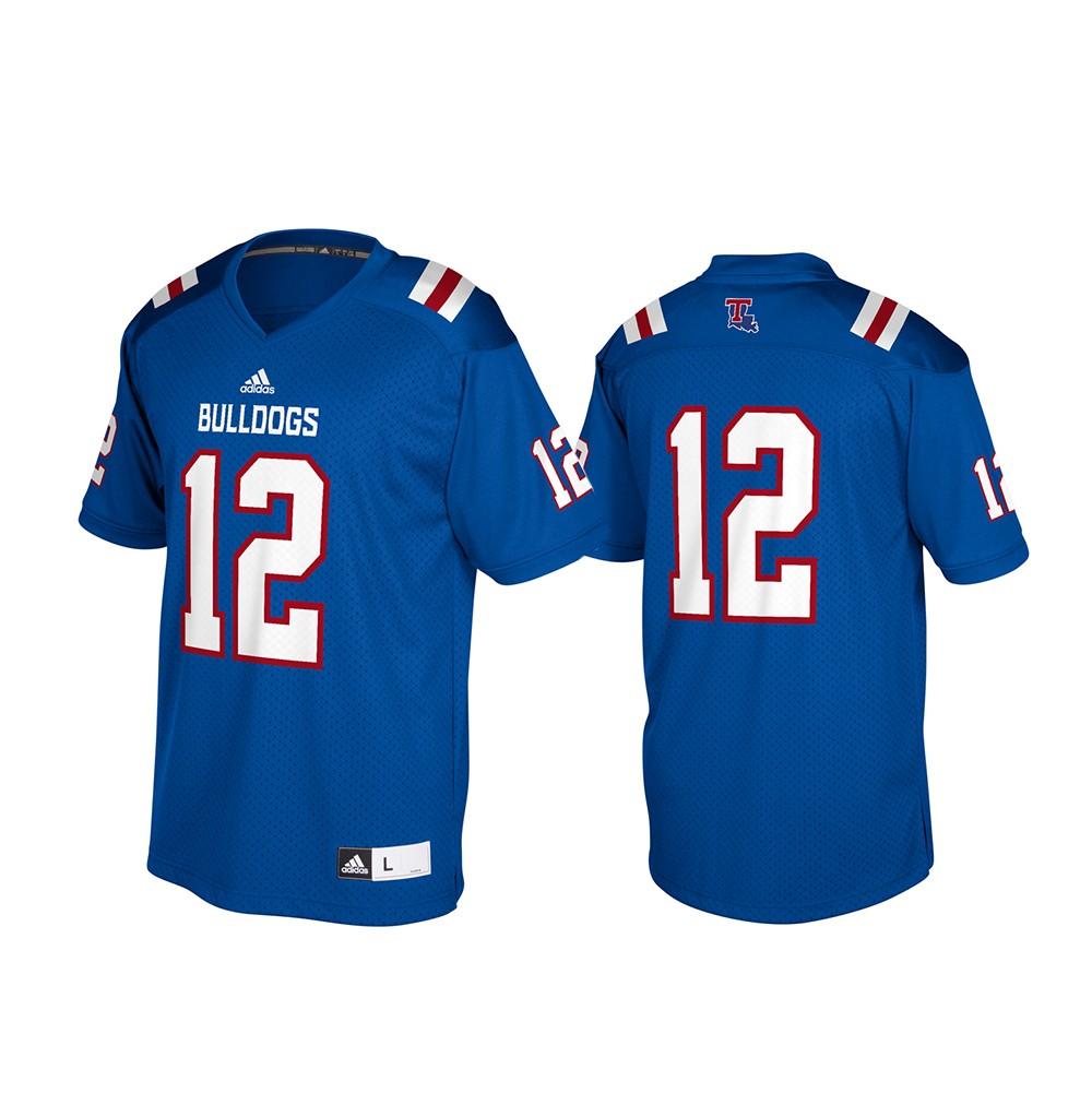 finest selection 41994 55339 Details about Louisiana Tech Bulldogs NCAA Adidas Blue #12 Official  Football Replica Jersey