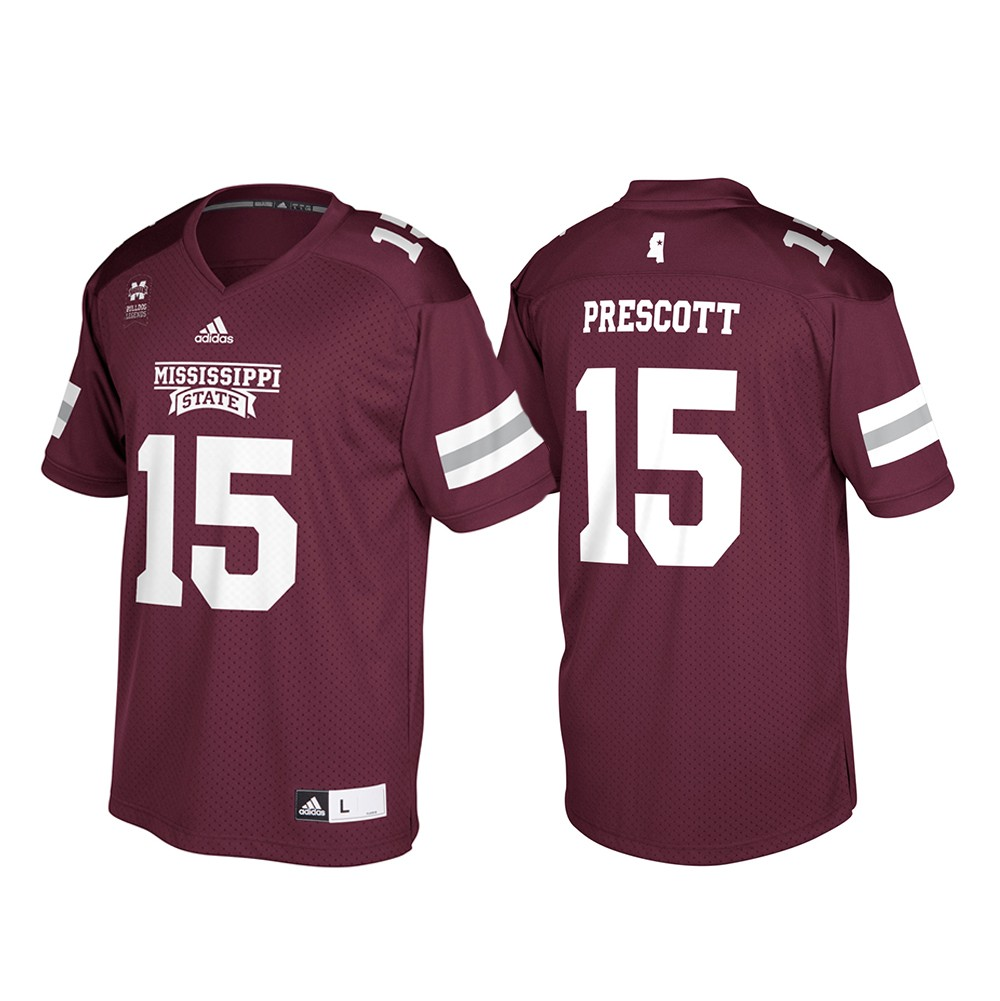 best authentic 92d1a 77513 Details about Dak Prescott Mississippi State Bulldogs NCAA Men's Adidas  Alumni Football Jersey