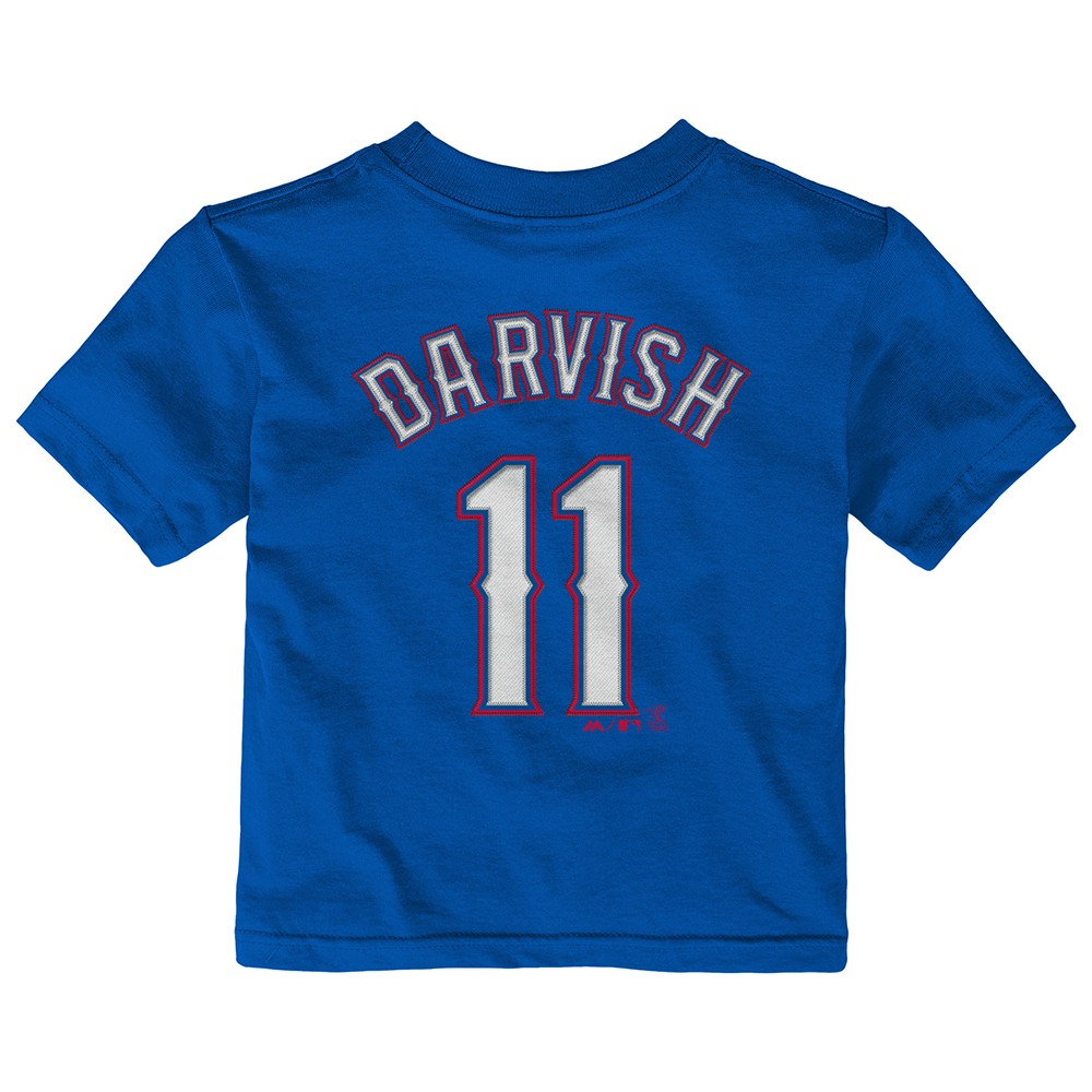 super popular 771cc ec75e Details about Yu Darvish MLB Majestic Texas Rangers Alt Jersey Blue T-Shirt  Infant (12M-24M)