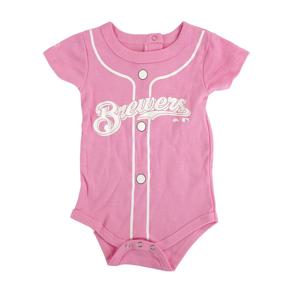6a5e538d0 Milwaukee Brewers MLB Majestic Infant Pink