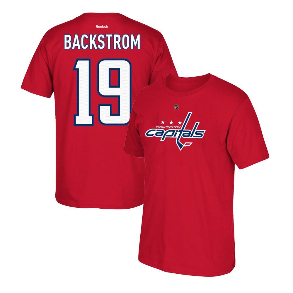 best sneakers 8b725 e2773 Details about Nicklas Bäckström Reebok Washington Capitals Premier Player  Jersey T-Shirt Men's