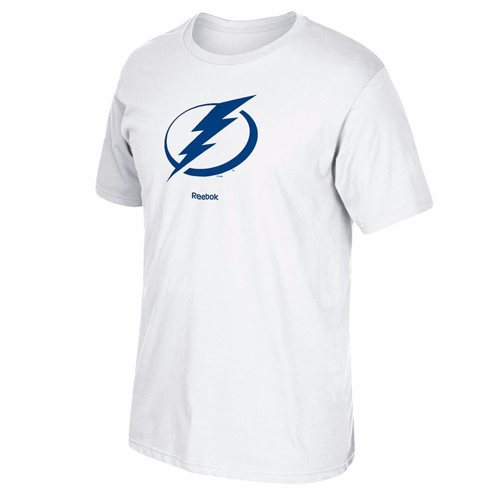 2d6ebcc47 Tampa Bay Lightning NHL Reebok Jersey Crest Team Primary Logo T-Shirt Men s