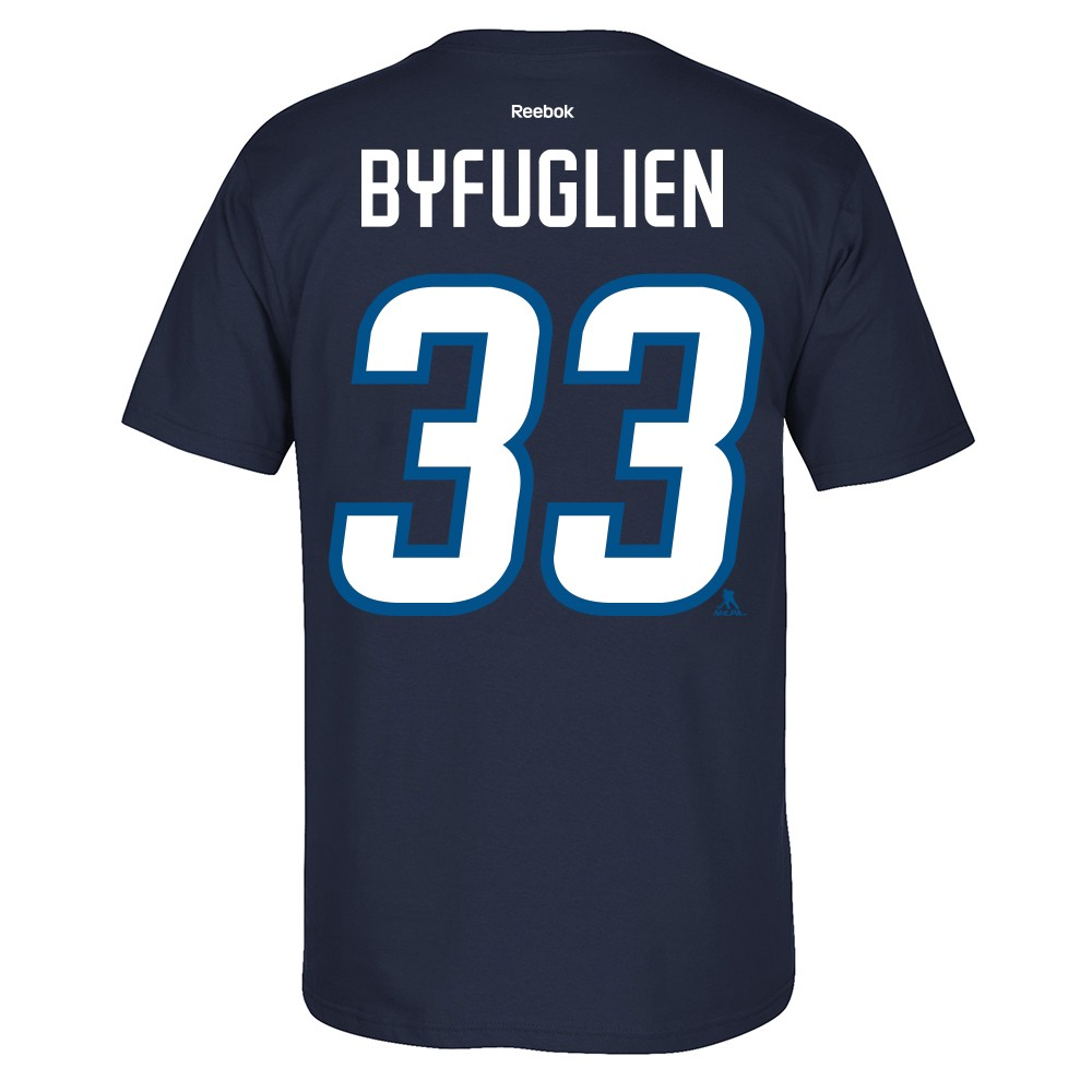best sneakers 85ba0 ad773 Reebok Winnipeg Jets Dustin Byfuglien Player Name Number Tshirt