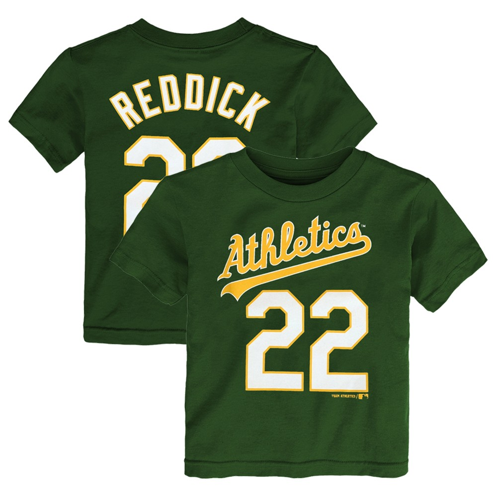 various colors ce346 48599 Details about Josh Reddick MLB Oakland Athletics Green Jersey T-Shirt  Infant Toddler (12M-4T)