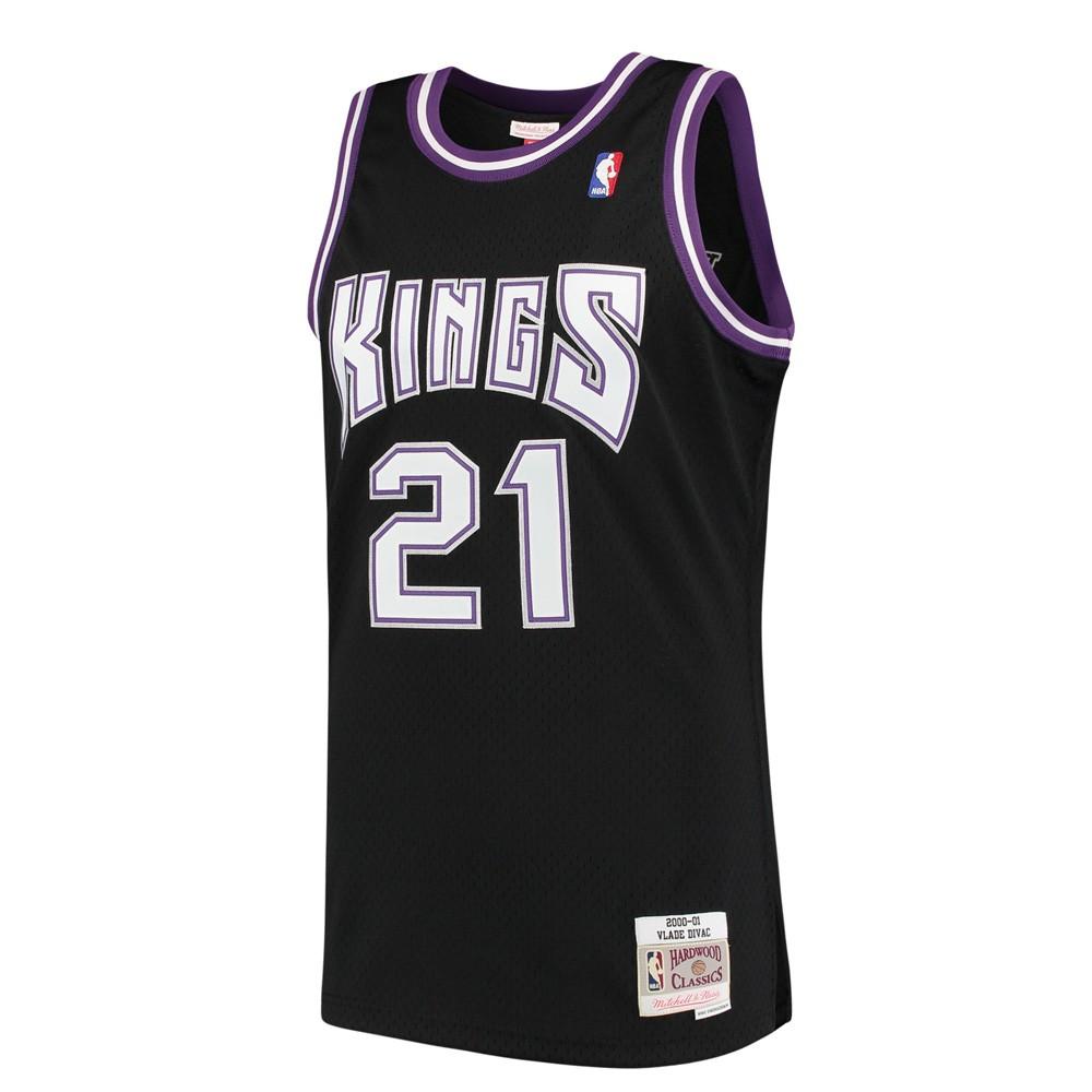 169534e1d95 Vlade Divac Sacramenton Kings NBA Mitchell   Ness Black 2000-01 Hardwood  Classics Swingman Jersey For Men (S)