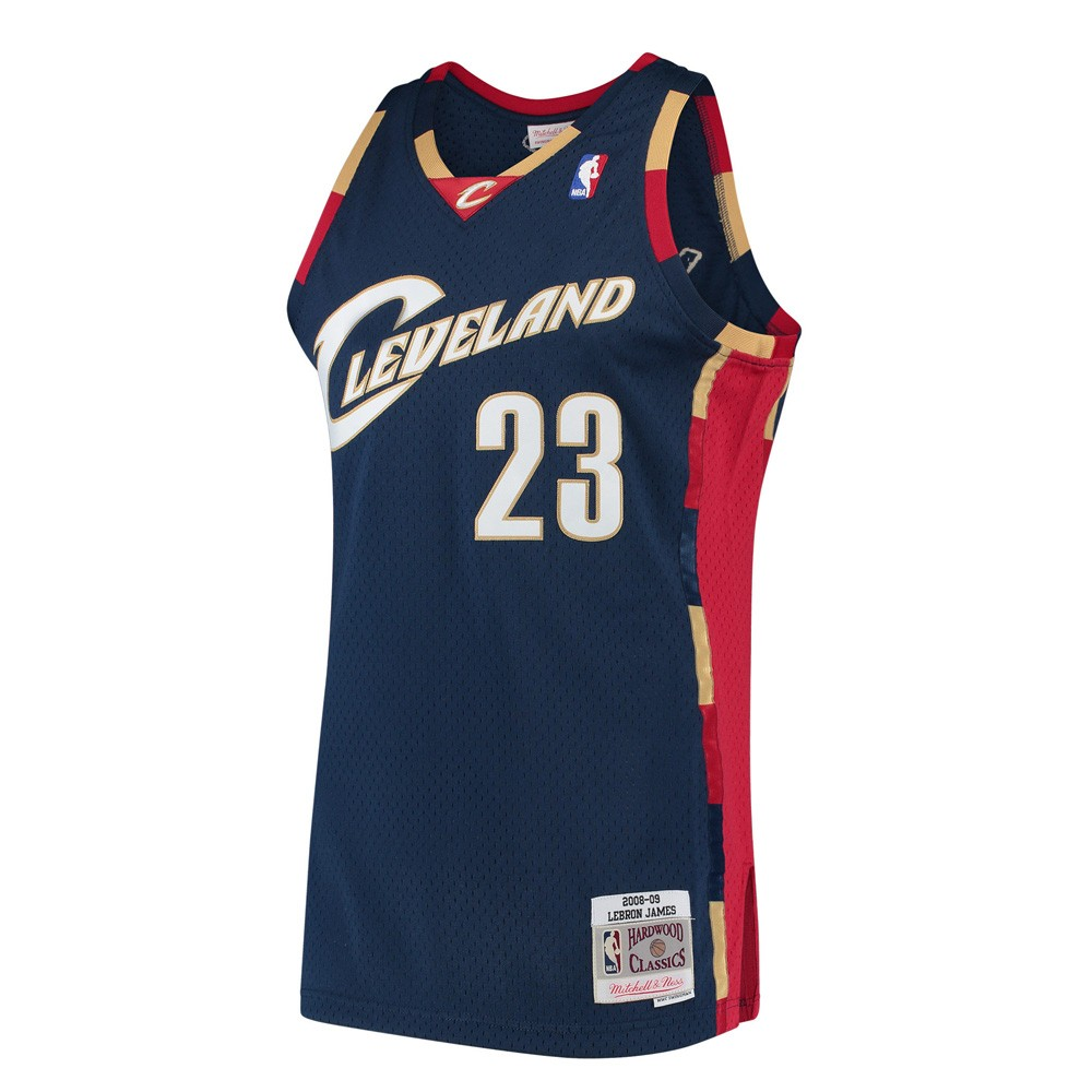 low priced 8278b 8acd4 Details about LeBron James 2008-09 Cleveland Cavaliers Mitchell & Ness Alt  Swingman Jersey