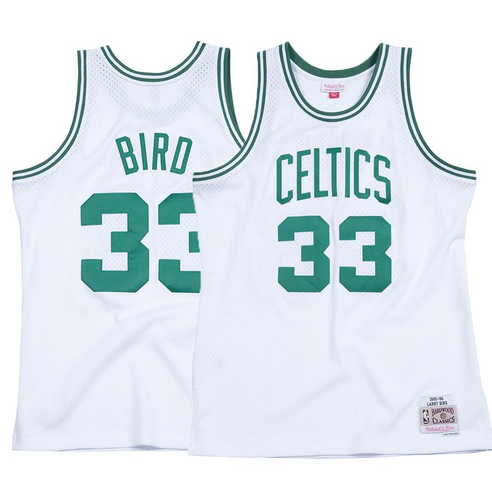 bad59a9cef5 Larry Bird NBA Boston Celtics Men's Mitchell & Ness White 1985-86 Swingman  Jersey (3XL)