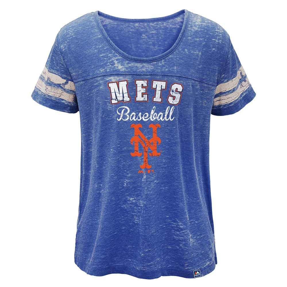 Details about New York Mets Majestic MLB Girls Blue