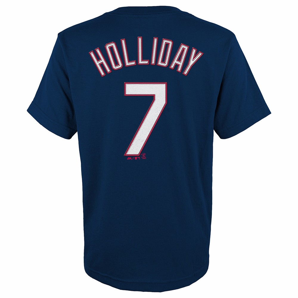 Matt Holliday St Louis Cardinals MLB Majestic Youth s Navy Blue Player Name    Number Jersey T-Shirt (BOY8 S) 13cb7f158