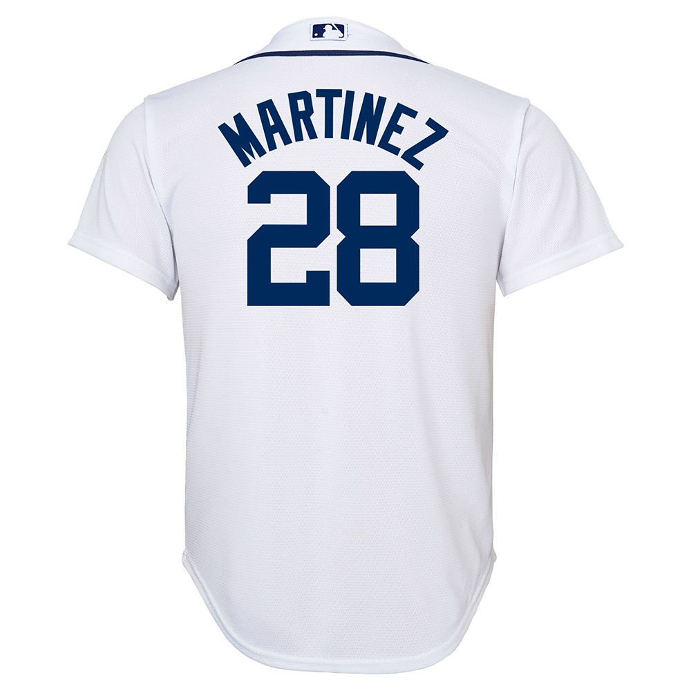 sports shoes b7715 c4532 Details about J.D. Martinez MLB Majestic Detroit Tigers Cool Base Home  Jersey Youth (S-XL)