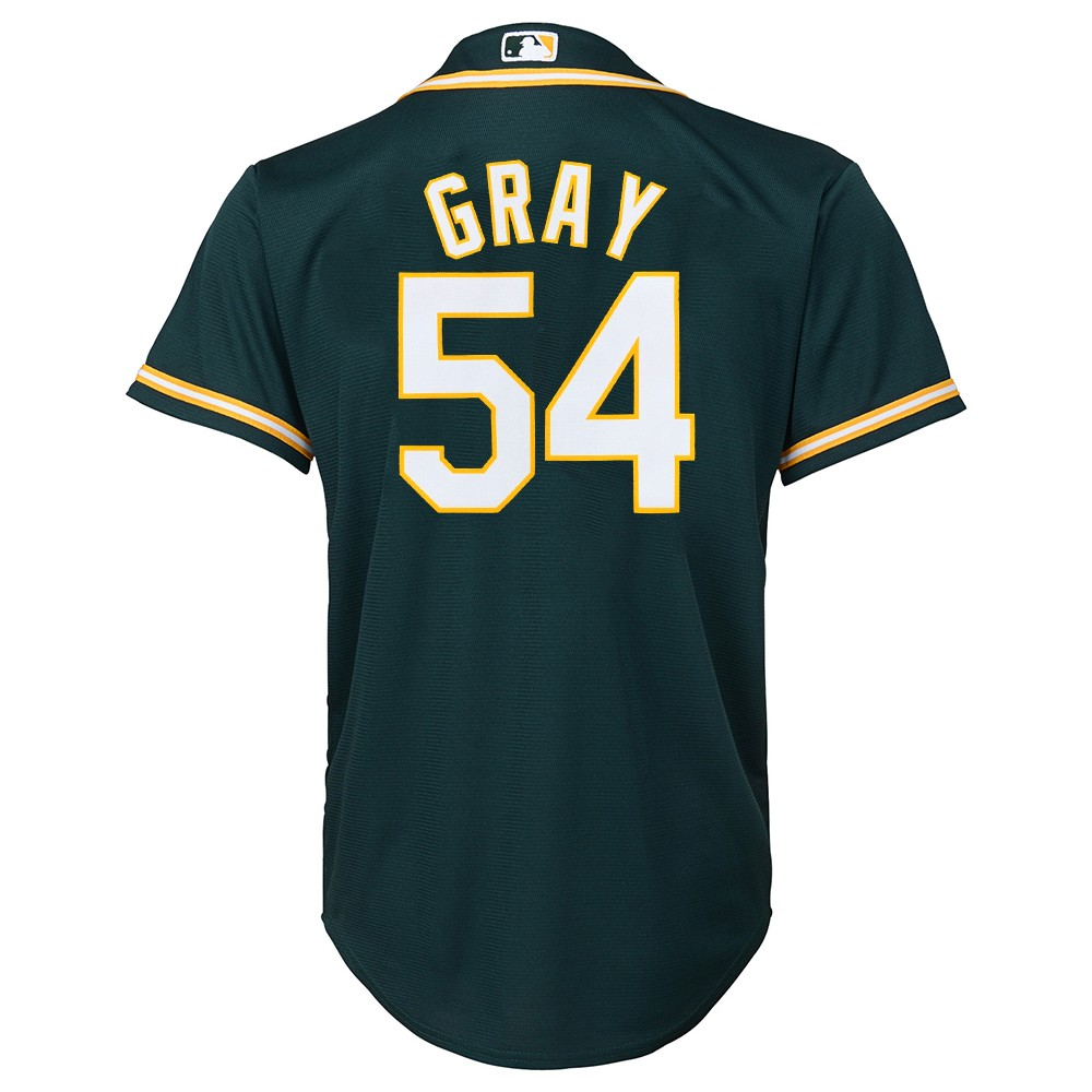 newest a5973 bc037 Details about Sonny Gray MLB Majestic Oakland Athletics Alternate Cool Base  Jersey Youth S-XL