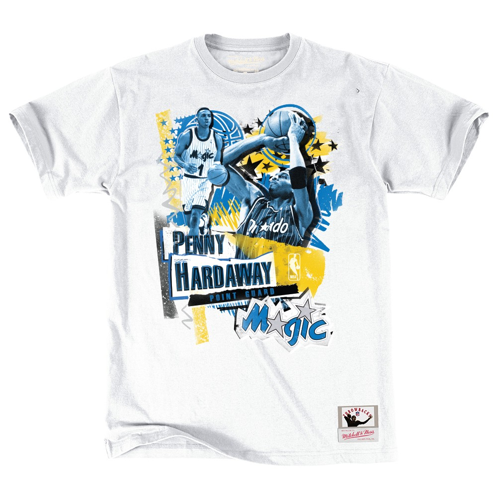 online retailer 1eb71 bdad0 Details about Penny Hardaway Orlando Magic NBA Mitchell & Ness White  Vintage Player Shirt