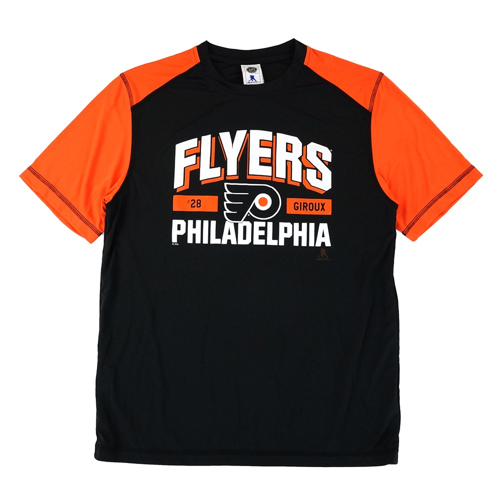 new style 454d4 22df4 Details about Claude Giroux NHL Philadelphia Flyers Performance Player  Graphic T-Shirt Men's