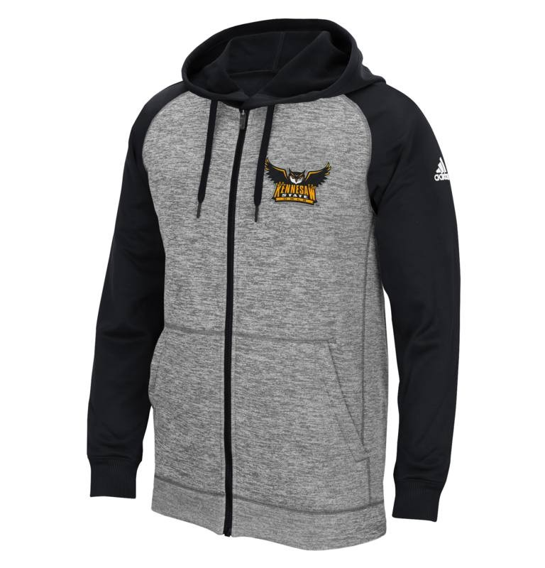 Kennesaw Black Fleece Full Zip Hoodie Full Owl