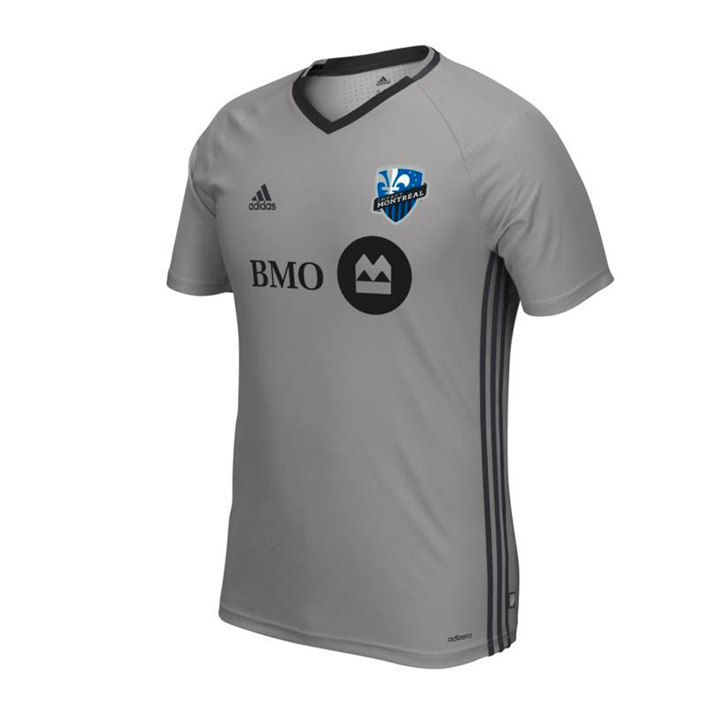 cozy fresh 0e577 9f6f2 Details about Montreal Impact MLS Adidas Wordmark Onix Grey Climacool  AdiZero Training Top