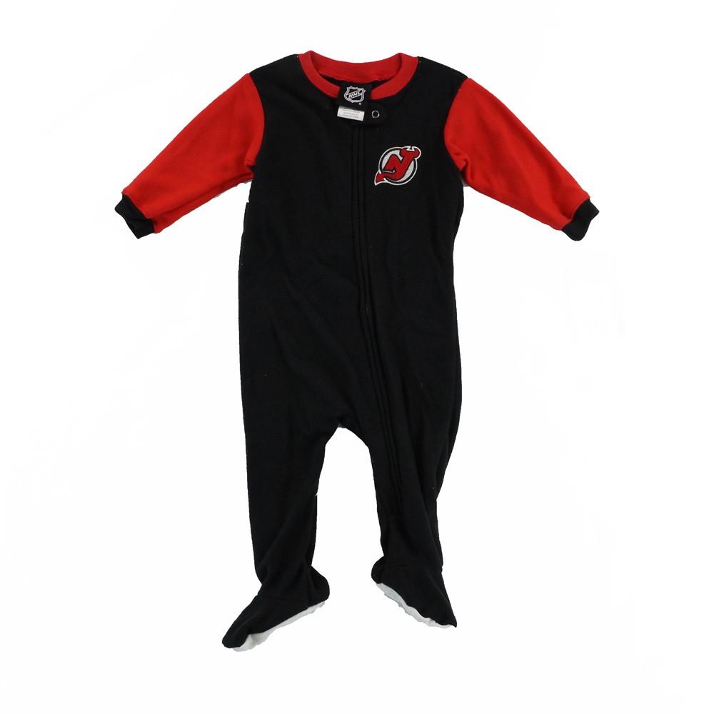 efe26a44df01a New Jersey Devils NHL Team Color Blocked Full Zip Blanket Sleeper Infant  Newborn