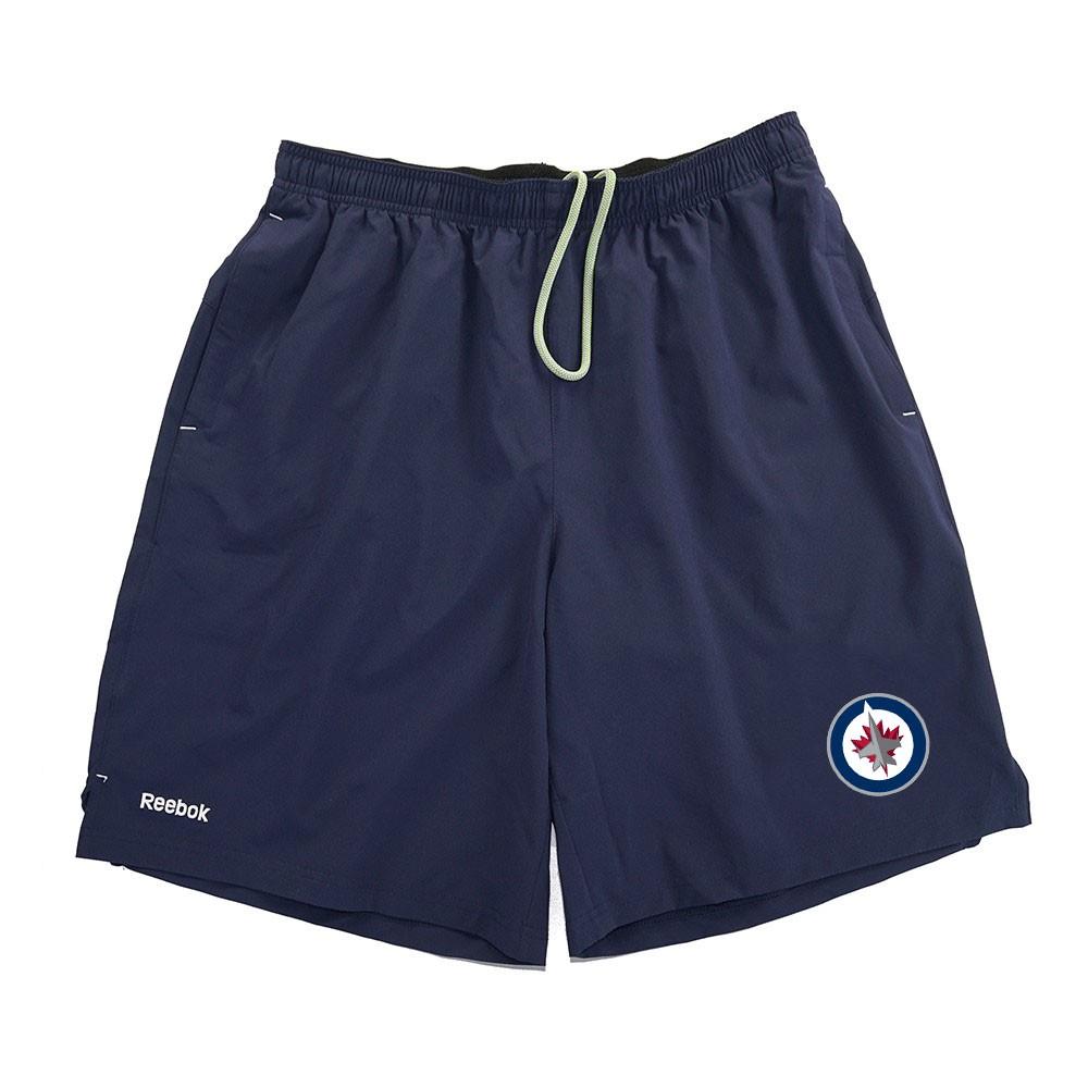 NHL-Reebok-Center-Ice-TNT-PlayDry-Performance-Navy-Team-Shorts-Collection-Men-039-s