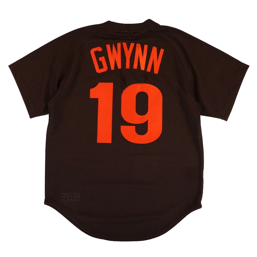 online store f2b63 8068f Details about Tony Gwynn 1985 San Diego Padres Mitchell & Ness Authentic  Brown BP Jersey Men's
