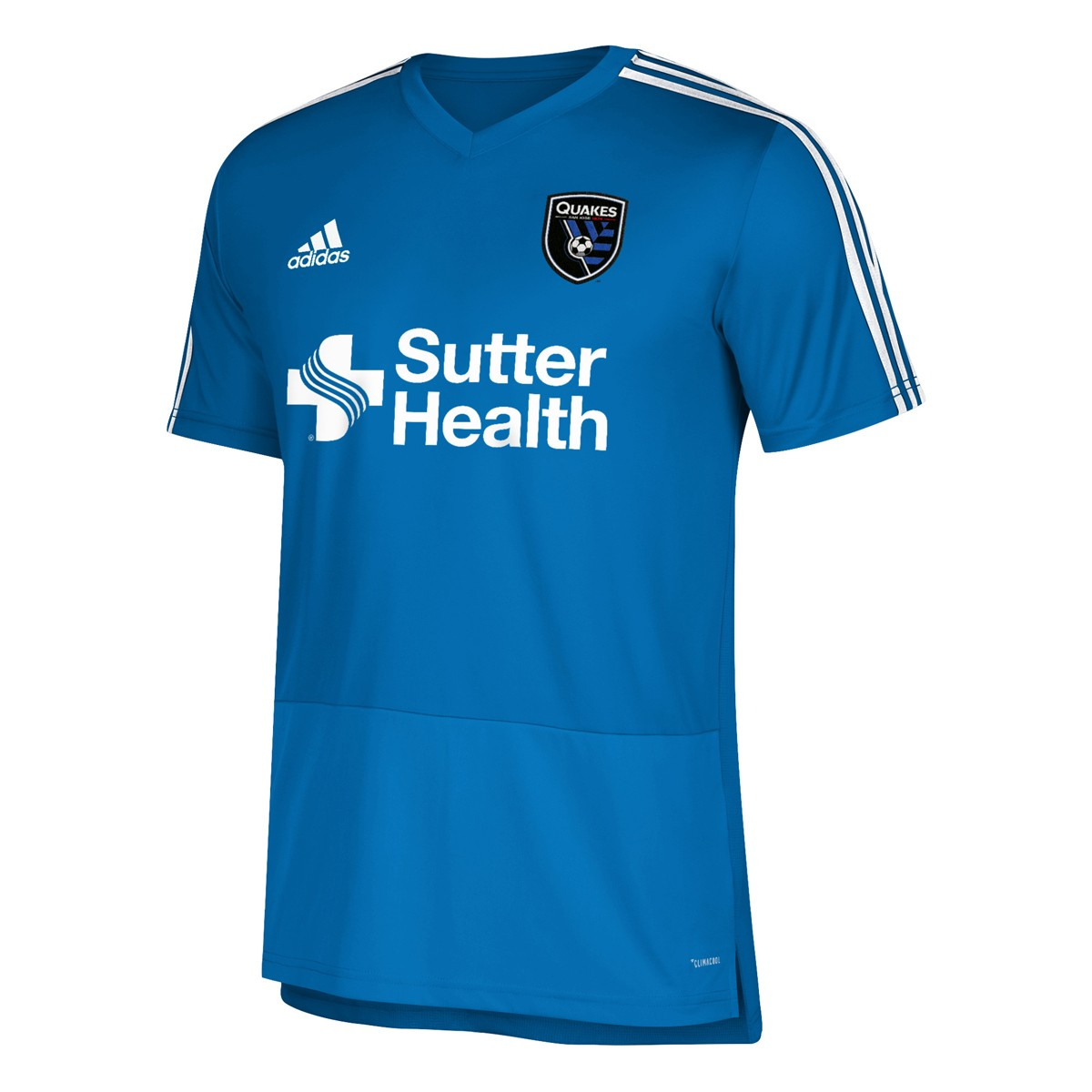 half off cad15 cb339 Details about San Jose Earthquakes MLS Adidas Blue Climacool 2018 Team  Color Training Jersey